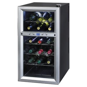 18 Bottle Dual Zone Freestanding Wine Cooler by Kalorik