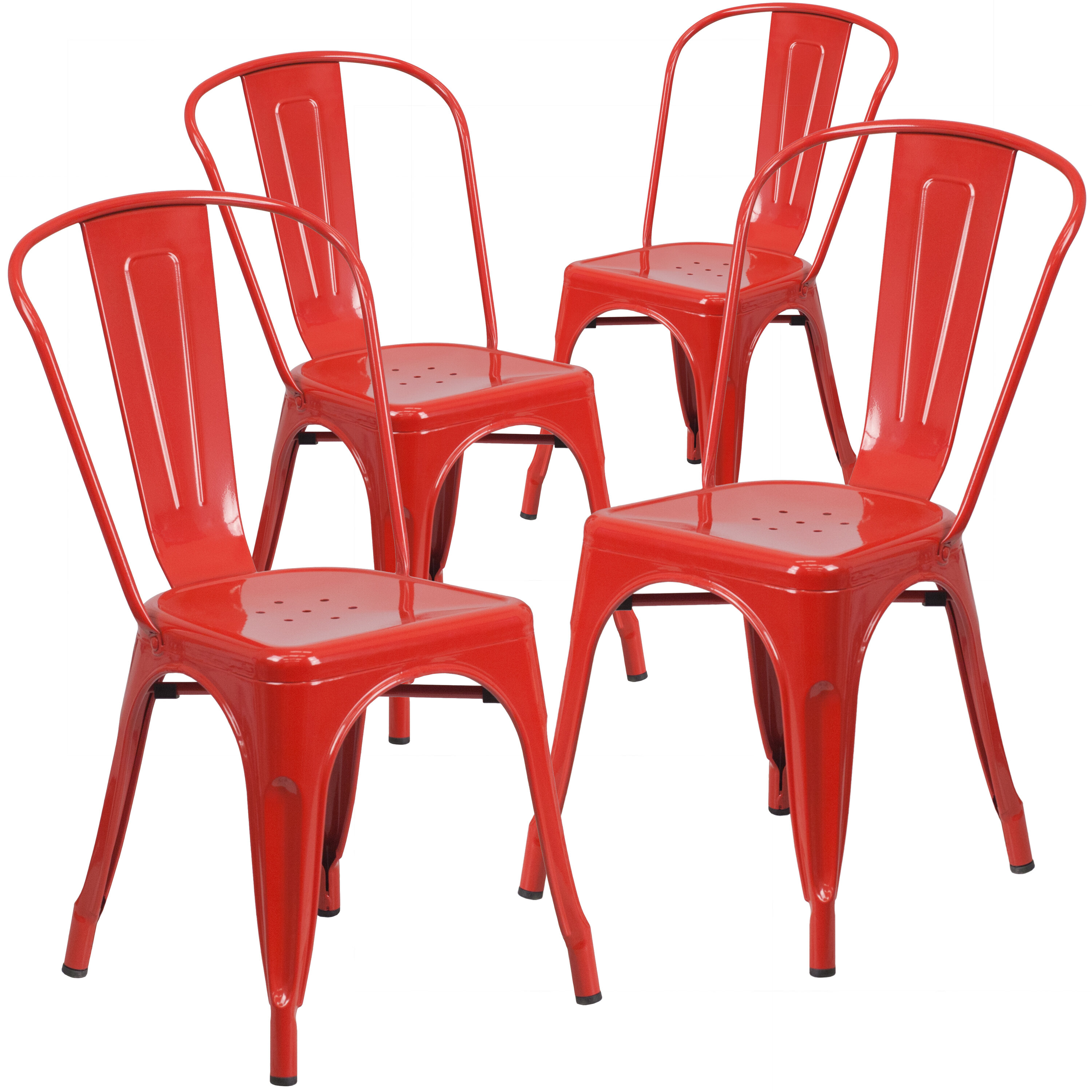 Picture of: Metal Red Patio Dining Chairs You Ll Love In 2020 Wayfair