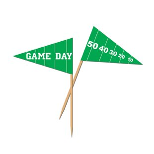 Game Day Football Plastic Disposable Pick (Set of 12)