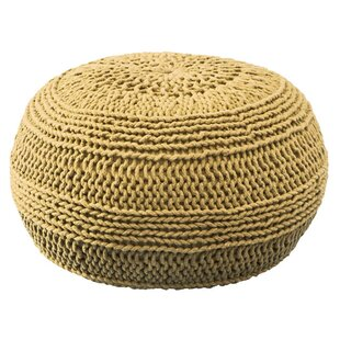 Nohlan Color Cable Knit Pouf by Beachcrest Home