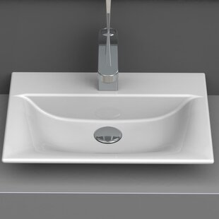 CeraStyle by Nameeks Ceramic Rectangular Vessel Bathroom Sink
