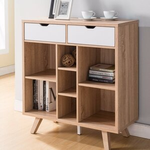 josephine buffet table with cutout handles drawers