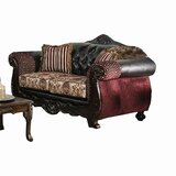 Bagnell 71 Wide Faux Leather Rolled Arm Loveseat by Astoria Grand