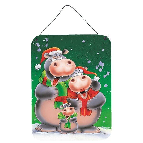 Caroline S Treasures Hippo Family Caroling Graphic Art Plaque Wayfair
