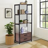 Moronta 59.8'' H x 23.6'' W Metal Etagere Bookcase by 17 Stories