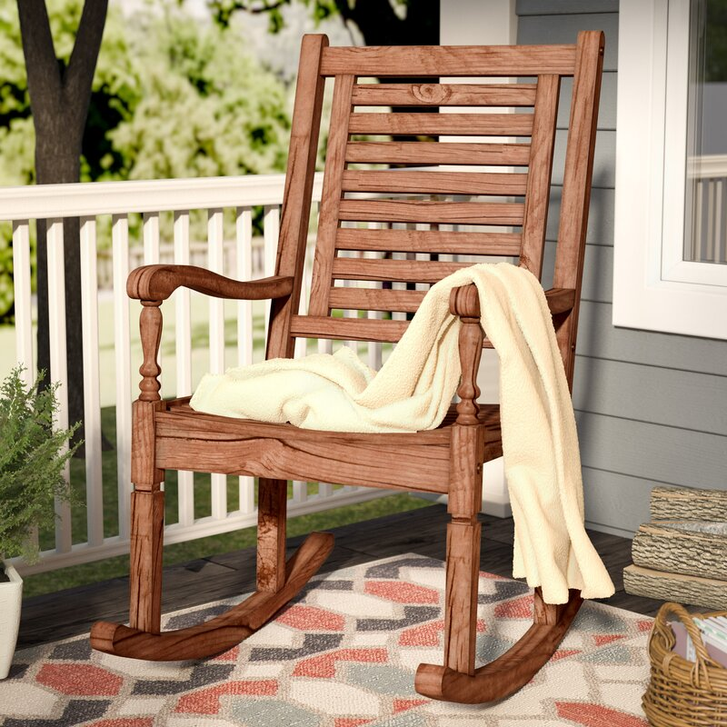 Exceptionnel Zinnia Solid Acacia Wood Patio Rocking Chair