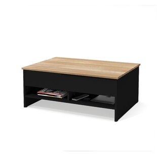 Wardle Lift-Top Storage with Solid Wood Top Surface Coffee Table Latitude Run