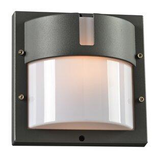 Compare prices Loftus 1-Light Outdoor Flush Mount By Ebern Designs
