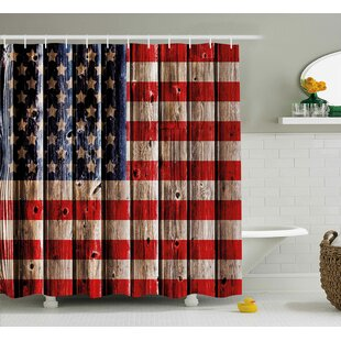 4th of July Happy National Day Liberty Freedom Democracy Country Patriarchal Graphic Single Shower Curtain