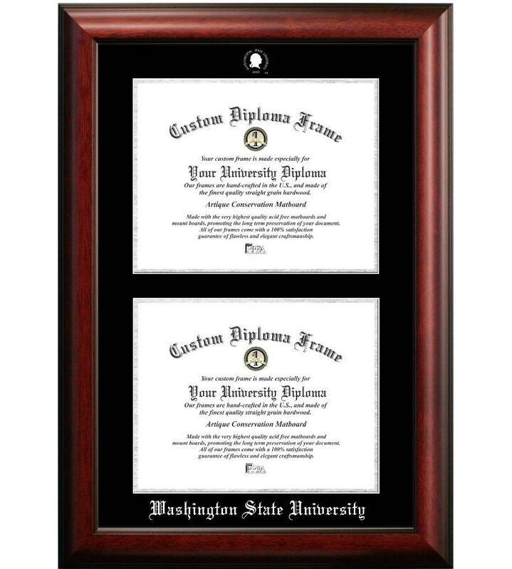 Diploma Frame Deals Washington State University Double Degree ...