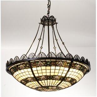 Meyda Tiffany Shell and Ribbon 4-Light Bowl Pendant