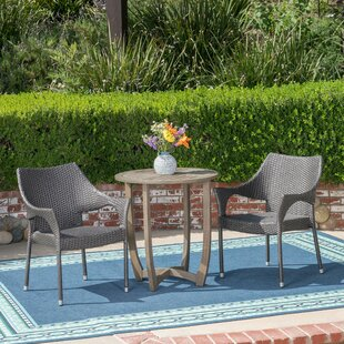 Trumbull 3 Piece Bistro Set by Wrought St..