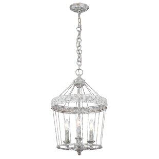 One Allium Way Cleo 3-Light Lantern Pendant