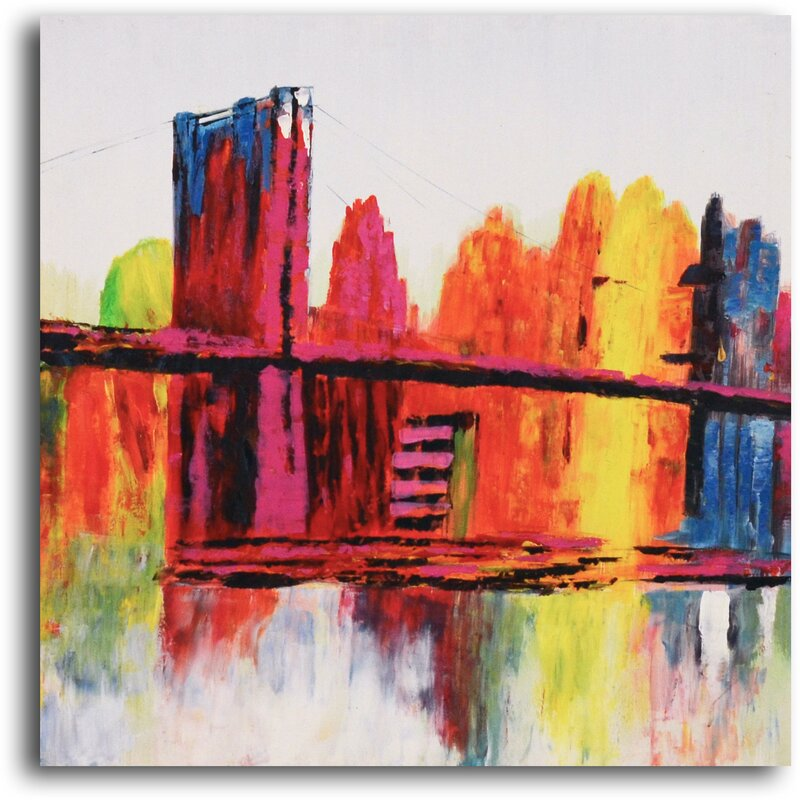 Psychedelic City 2 Piece Painting On Canvas Set