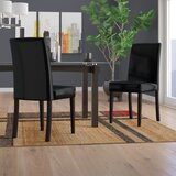 Mercado Upholstered Side Chair in Wenge (Set of 2) by Latitude Run