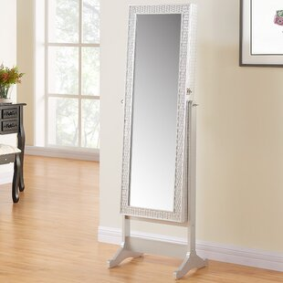 House of Hampton Nave Jewelry Armoire with Mirror