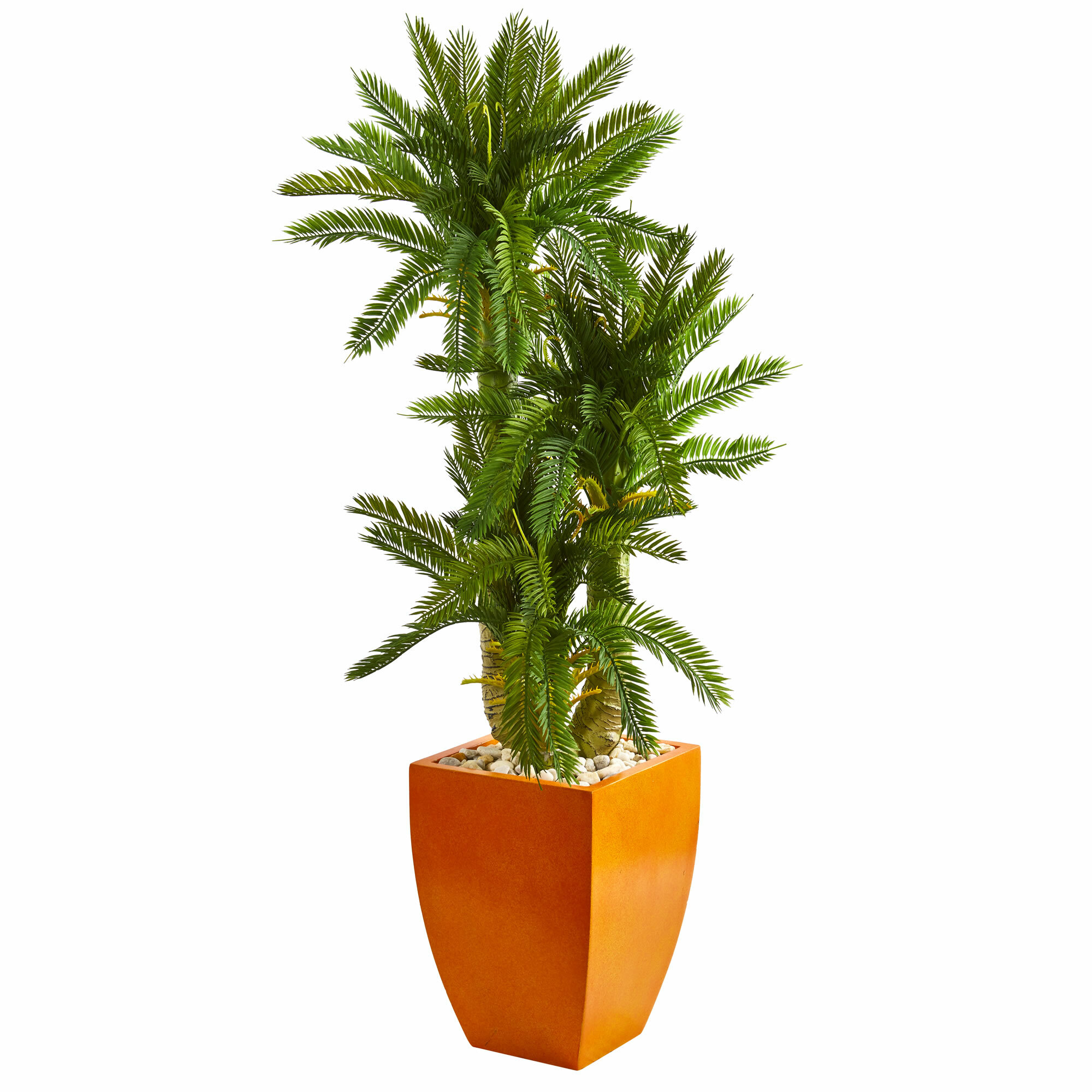 Ivy Bronx 38 5 Artificial Foliage Plant In Planter Wayfair