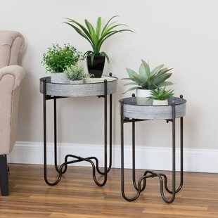 Affordable Dilley 2 Piece Metal Plant Table Set By Williston Forge