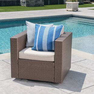 Jemaine Outdoor Swivel Club Chair with Cushions