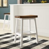 Tierney Solid Wood 24 Counter Stool (Set of 2) by August Grove®