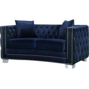 Veun Chesterfield Loveseat by Rosdorf Park