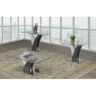 Orren Ellis Currier 3 Piece Coffee Table Set