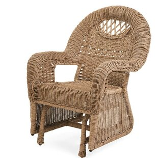 Plow & Hearth Prospect Hill Wicker Glider Chair