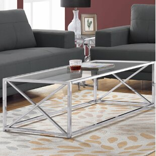 Order Geise Tempered Glass Coffee Table By Breakwater Bay