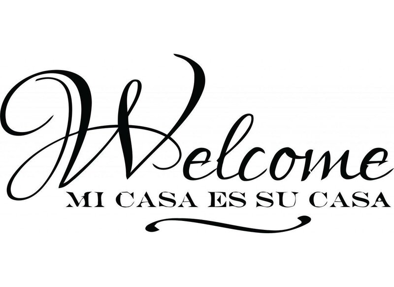 Spanish Welcome Wall Decal