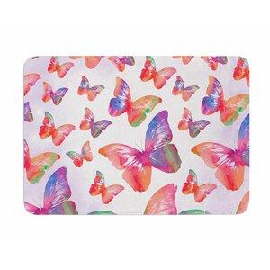 Butterfly by Li Zamperini Memory Foam Bath Mat