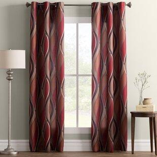 Silvernail Geometric Semi-Sheer Grommet Single Curtain Panel by Ebern Designs