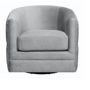 Cohasset Swivel Barrel Chair by Everly Quinn