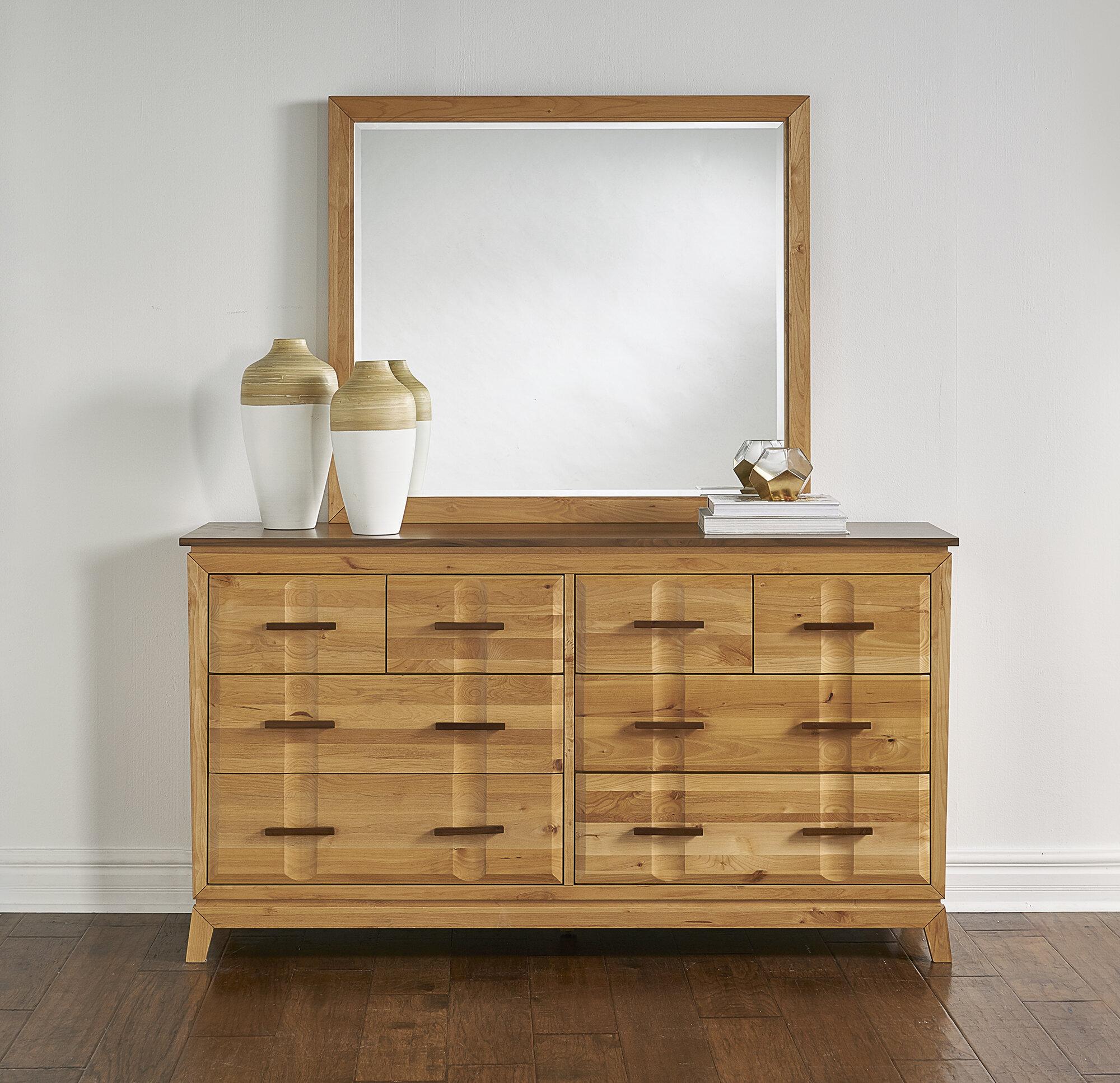 Ebern Designs Kenansville Beveled Dresser Mirror Wayfair