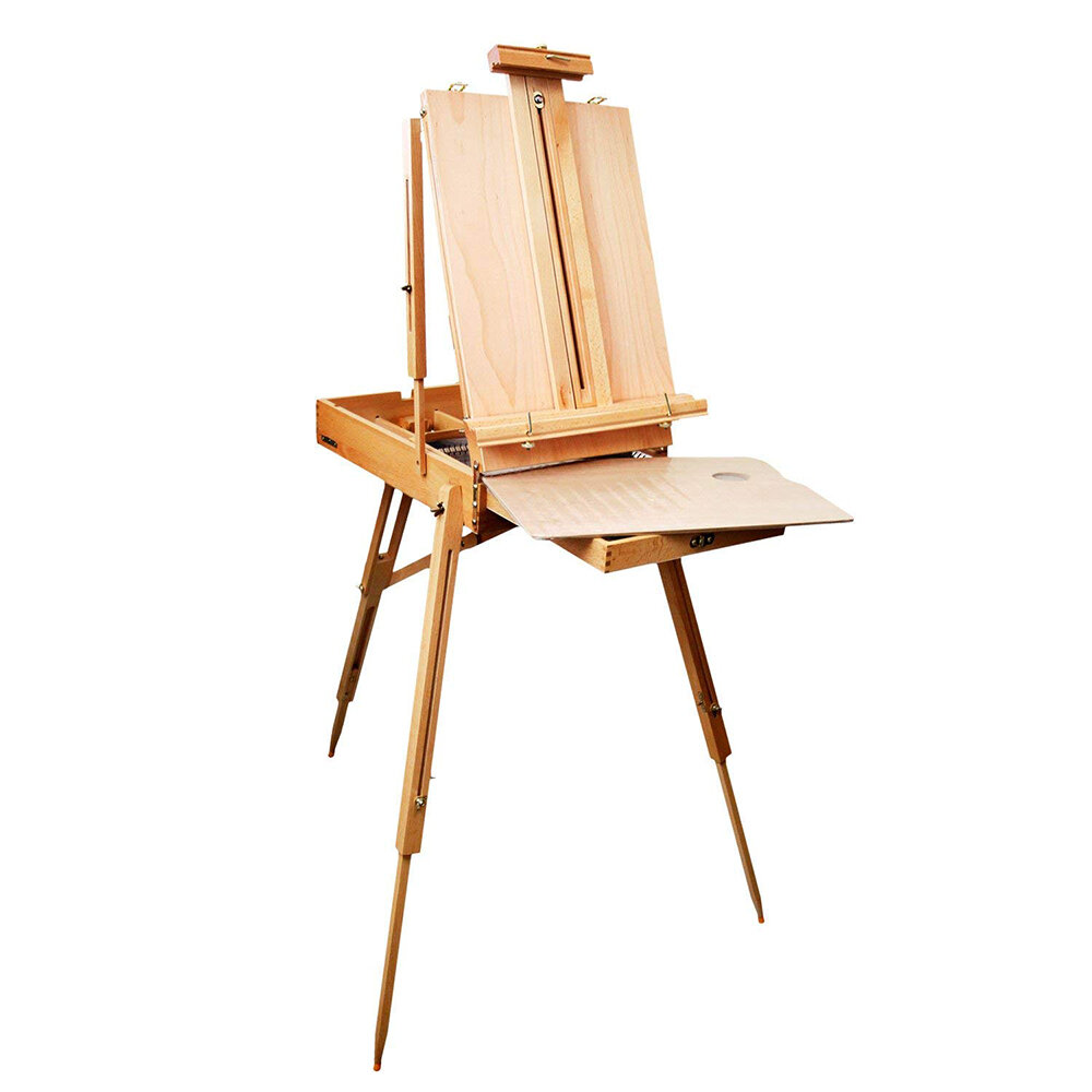 Wood Desk Easel Drawer Art Painting Storage Stand Tabletop Adjustable Portable