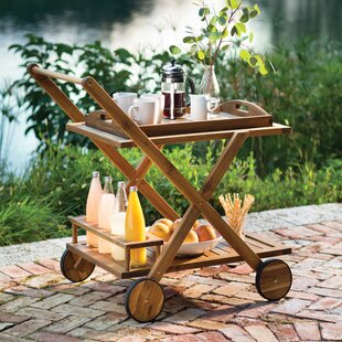 Pinecrest Bar Serving Cart by Beachcrest Home