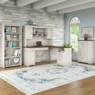 Oakridge 4 Piece L-shaped Desk Office Suite By Beachcrest Home