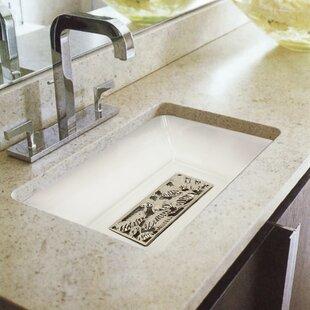 Linkasink Tiffany Ceramic Rectangular Undermount Bathroom Sink with Overflow