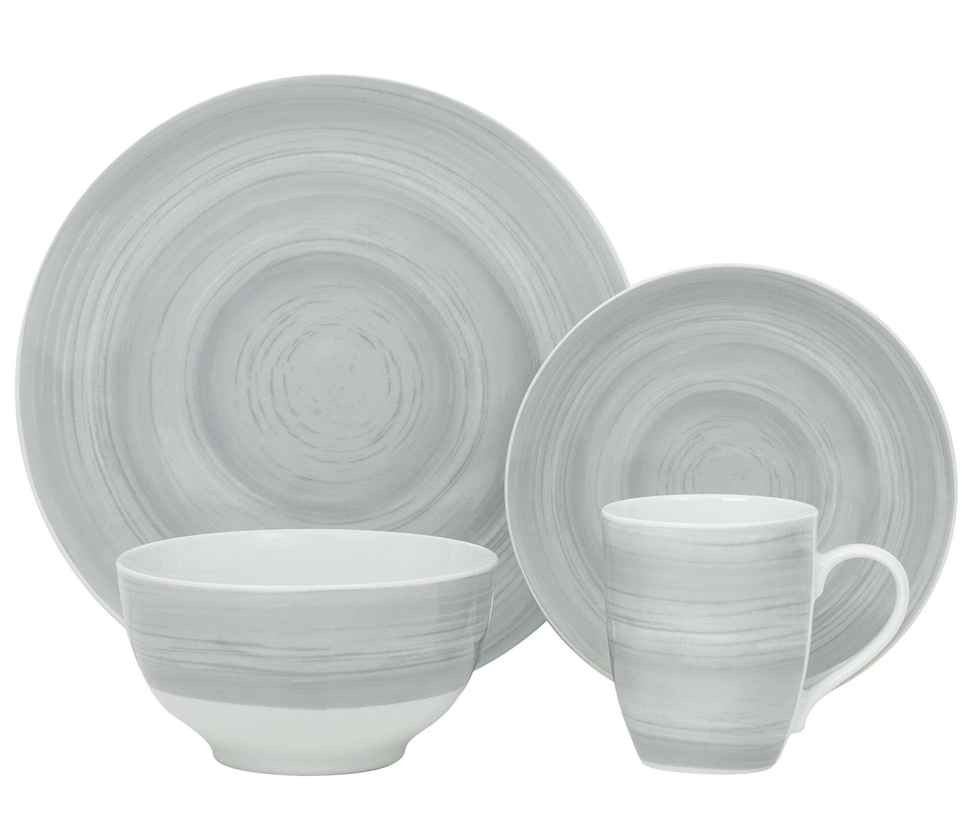StyleWell 16-Piece Bright Mix /& Match Stoneware Dinnerware Set Service for 4