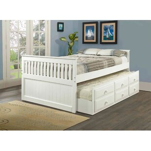 Compare prices Hillam Captain Bed with Trundle by Harriet Bee Reviews (2019) & Buyer's Guide