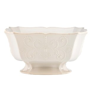 French Perle Footed Centerpiece Serving Bowl