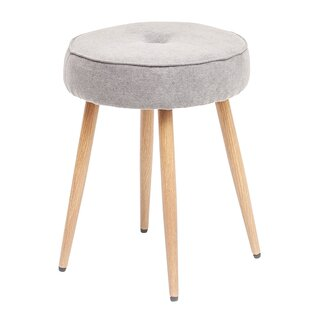 Klima Round Upholstered Vanity Stool by Bungalow Rose