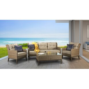 Crowthorne 5 Seater Rattan Sofa Set By Sol 72 Outdoor