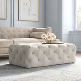 48.43 Tufted Rectangle Cocktail Ottoman by Kelly Clarkson Home
