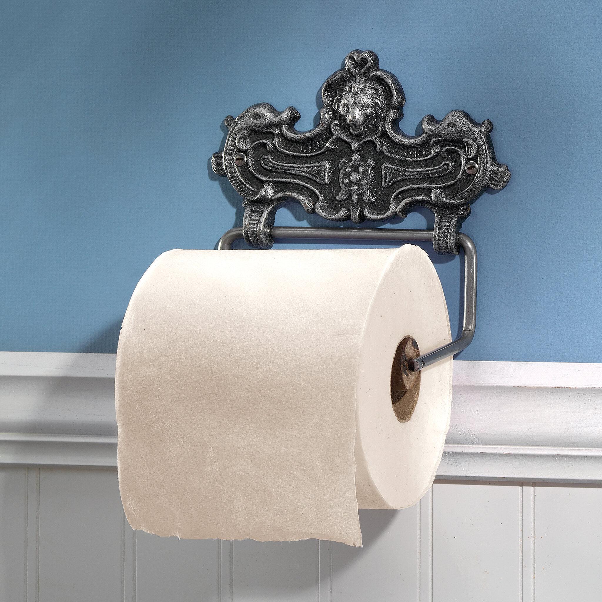 Design Toscano Victorian Lion Bathroom Cast Iron Wall Mount Toilet ...