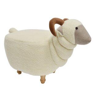 Hodapp Sheep Animal Ottoman by Zoomie Kids