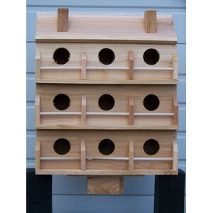 22 in x 18 in x 8 in Purple Martin House