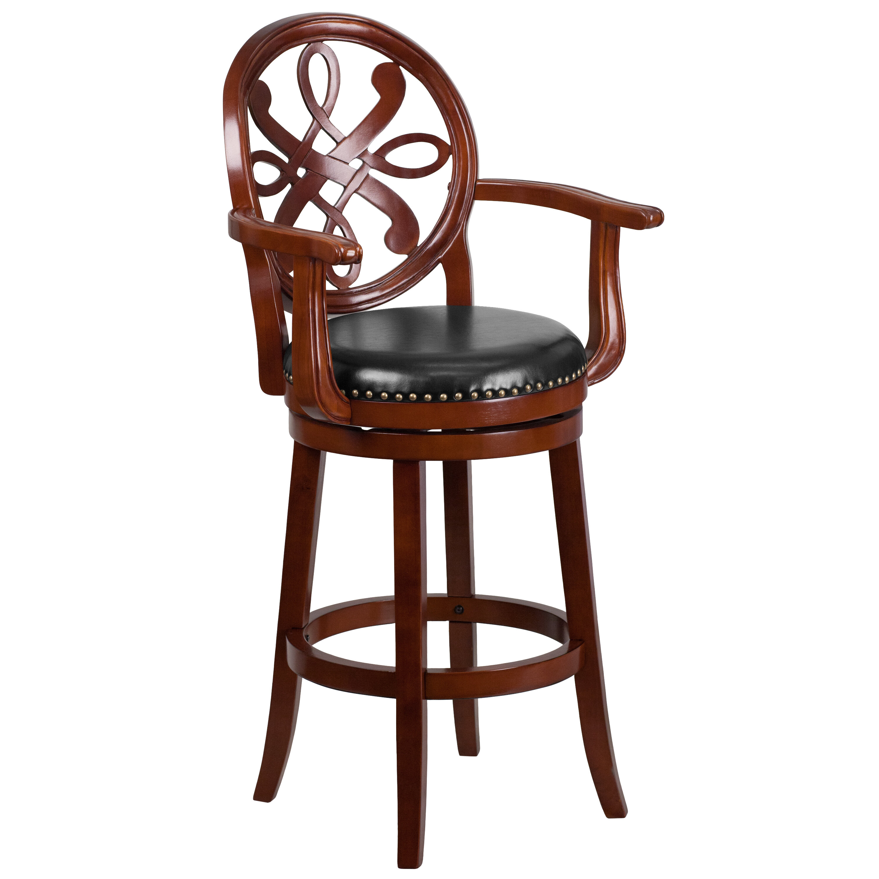Pleasant Fatum Wood 30 Swivel Bar Stool Onthecornerstone Fun Painted Chair Ideas Images Onthecornerstoneorg