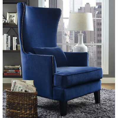 jacinto velvet wingback chair - Blue Velvet Chair