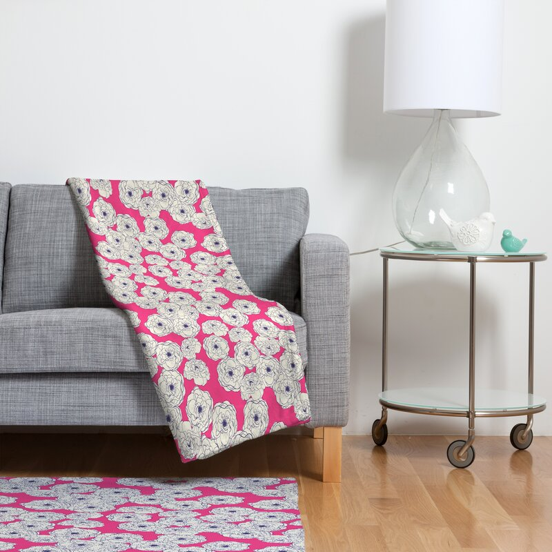 East Urban Home Floral Sophistication Fleece Throw Blanket Wayfair