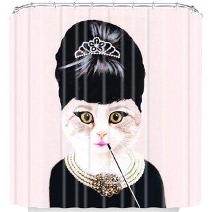 Coco De Paris Hepburn Cat Single Shower Curtain